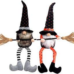 LOKIPA Halloween Gnomes Plush, 2 Pack Handmade Witch Plush Gnome Faceless Doll for Halloween Deco...   Amazon (US)