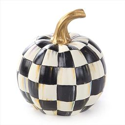 MacKenzie-Childs Courtly Check Black-and-White Mini Decorative Pumpkin for Fall Decor, Autumn Dec...   Amazon (US)