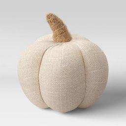 "4"" x 4"" Fabric Pumpkin Figurine Cream - Threshold™ | Target"