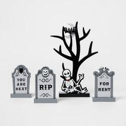 Mini Mantel Wood Tree with Gravestones Halloween Decorative Prop - Hyde & EEK! Boutique™ | Target