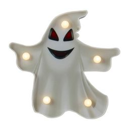 """Northlight 7"""" Lighted White Ghost Halloween Marquee Decoration 