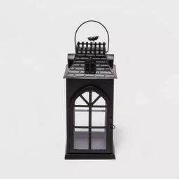 Large Decorative Halloween Metal Lantern with Bricks Texture - Hyde & EEK! Boutique™   Target