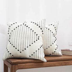 blue page Bohemian Diamond Throw Pillow Covers - Set of 2 Modern Cotton Woven Decorative Pillow C... | Amazon (US)