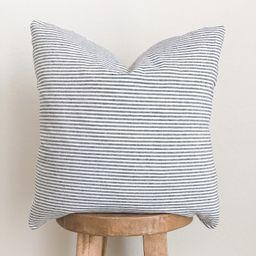 Dark Navy Linen Striped Pillow Cover | Ivory and Navy | Coastal Farmhouse Home Decor | 18x18 | 20... | Etsy (US)