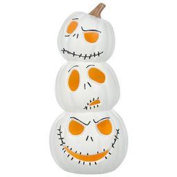 The Nightmare Before Christmas Jack Skellington Light Up White Pumpkin Stack Halloween Decoration... | Walmart (US)