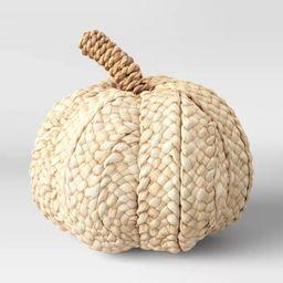 "7"" x 7.8"" Woven Corn Husk Pumpkin Figurine Cream - Threshold™ | Target"