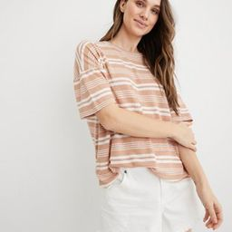 Aerie Breezy Linen Striped Distressed T-Shirt   American Eagle Outfitters (US & CA)