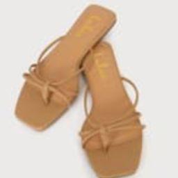 Akiko Medium Nude Flat Thong Sandals | Lulus (US)
