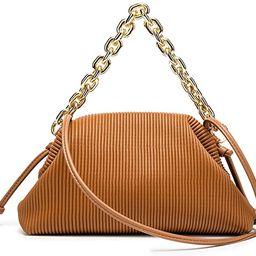 Women Dumpling Shoulder Bag Designer Chain Handbag Soft Cloud Crossbody Pouch Bag Ruched Clutch P... | Amazon (US)