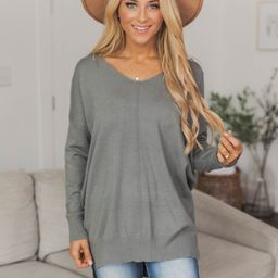 Something On Your Mind Olive Sweater | The Pink Lily Boutique