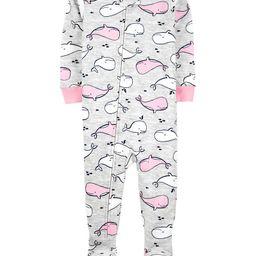 1-Piece Whale 100% Snug Fit Cotton Footie PJs   Carter's