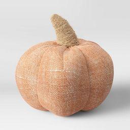 "4"" x 4"" Fabric Pumpkin Figurine Orange - Threshold™   Target"
