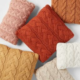 Chunky Cable Knit Throw Pillow - Threshold™   Target