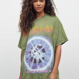 Def Leppard Overdyed T-Shirt Dress | Urban Outfitters (US and RoW)
