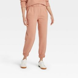 Women's High-Rise Pull-On All Day Fleece Ankle Jogger Pants - A New Day™   Target