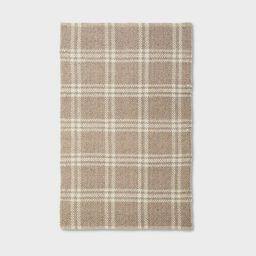 3'x5' Wool/Cotton Plaid Rug Neutral - Threshold™ designed with Studio McGee   Target