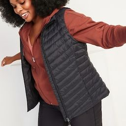 Water-Resistant Narrow-Channel Puffer Vest for Women | Old Navy (US)