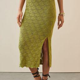 Slim Crochet Midi Skirt | Anthropologie (US)
