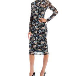 Santana Long Sleeve Turtleneck Floral Print Bodycon Dress | Dillards