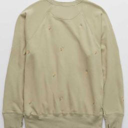 Aerie Embroidery Vintage Crew Sweatshirt | American Eagle Outfitters (US & CA)