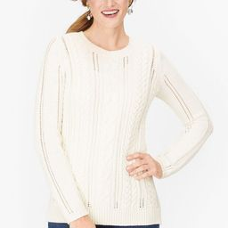 Pointelle Cableknit Sweater | Talbots