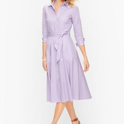 Cotton Stripe Shirtdress | Talbots