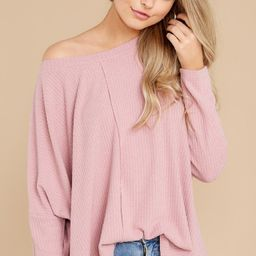 Main Attraction Mauve Pink Top   Red Dress