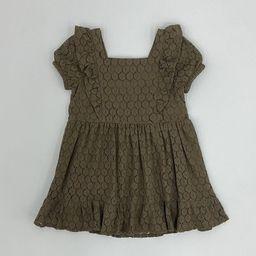 Toddler Girls' Lace Short Sleeve Dress - art class™ Olive Green | Target