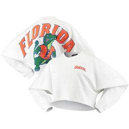 Florida Gators Women's Raw Hem Cropped Spirit Jersey Long Sleeve T-Shirt - White | Fanatics