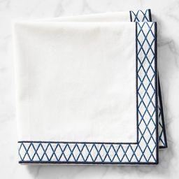 Trellis Embroidered Napkins, Set of 4 | Williams-Sonoma