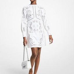 Floral Embroidered Hemp Mini Dress   Michael Kors (US & CA)