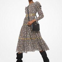 Embellished Paisley Cotton Lawn Puff-Sleeve Dress   Michael Kors (US & CA)