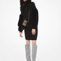 Wool-Blend Faux Fur-Sleeve Sweater Dress   Michael Kors (US & CA)