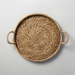 Woven Circular Serve Tray with Handles - Hearth & Hand™ with Magnolia   Target