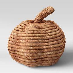 "7"" x 7.8"" Woven Corn Husk Pumpkin Figurine Brown - Threshold™   Target"