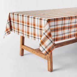 "120"" x 60"" Cotton Plaid Tablecloth - Threshold™   Target"