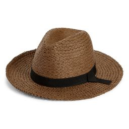 Women's Nordstrom Mixed Media Panama Hat, Size Small/Medium - Brown   Nordstrom
