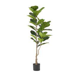 Stilwell 5' x 2' Artificial Fiddle-Leaf Fig Tree, Green | Walmart (US)