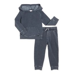 Wonder Nation Baby & Toddler Boy or Girl Unisex Athleisure Outfit Set, Sizes 12M-5T | Walmart (US)