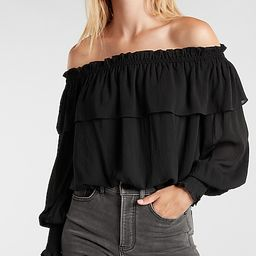 Ruffle Off The Shoulder Top   Express