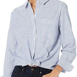 Amazon Brand - Goodthreads Women's Washed Cotton Boyfriend Shirt | Amazon (US)