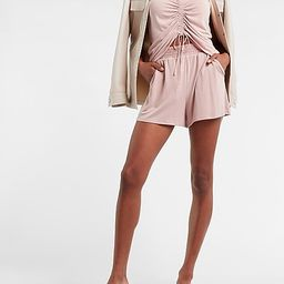 Super High Waisted Silky Sueded Jersey Shorts   Express