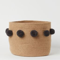 Storage Basket with Pompoms  $19.99 | H&M (US)