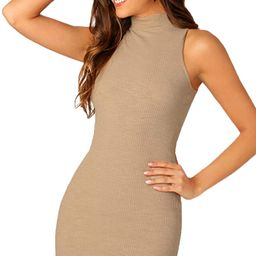 SheIn Women's Summer Sleeveless Halter Neck Casual Tank Bodycon Mini Dress   Amazon (US)
