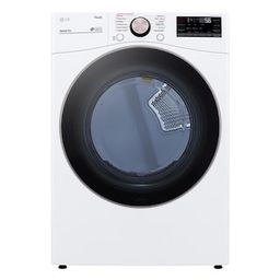 LG Electronics 7.4 cu. ft. White Ultra Large Capacity Electric Dryer with Sensor Dry, Turbo Steam...   The Home Depot