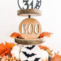 Halloween Decor Tiered Tray Decor Fall Decor Farmhouse   Etsy   Etsy (US)