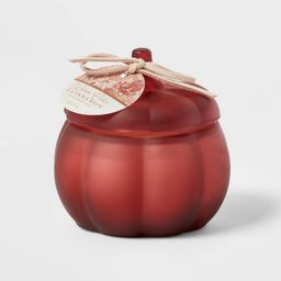 Mini Pumpkin Warm Cider and Cinnamon Red Marsala Candle - Threshold™   Target