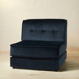 Villea Velvet Modular Sofa Dark Blue/Green - Opalhouse™ designed with Jungalow™ | Target