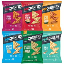 Popcorners Snacks Gluten Free Chips, 6 Flavor Variety Pack, (Pack of 20) (Assortment may Vary)   Amazon (US)