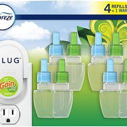 Febreze Plug in Air Fresheners, Gain Original, Odor Eliminator, Scented Oil Refill, 1 Warmer + 4 ...   Amazon (US)